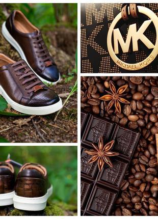 Элитные мужские туфли осенние кеды полу ботинки Michael Kors 40 р