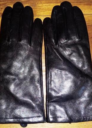 Женские, кожаные перчатки marks & spencer