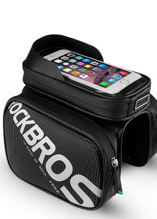 Велосумка для телефона Rockbros водонепроницаемая, сумка нарамная