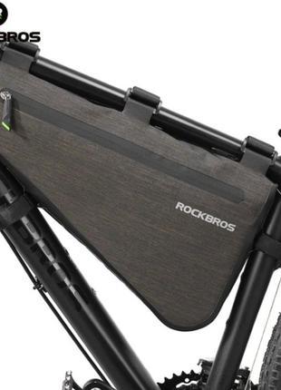 Велосумка на раму байкпакинг ROCKBROS 8L, велосипедная сумка н...