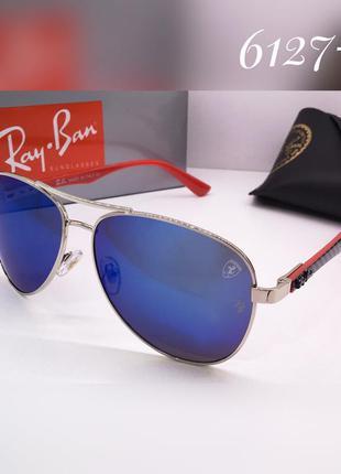 Стильные очки авиаторы ray ban зеркальные