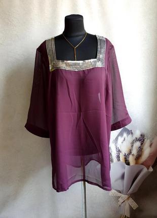 Женская блузка р.3xl-4xl wardrobe