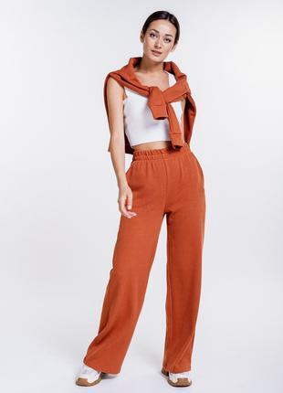 Женский трикотажный костюм с штанами и джемпером