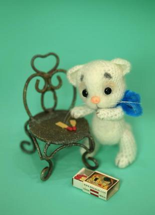 Брелок для сумки котенок с бантиком