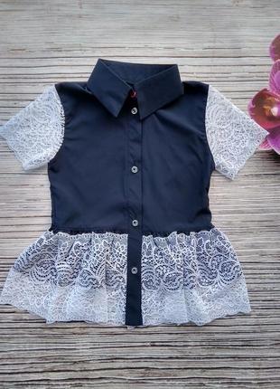 Блуза ткань софт+ мереживо
