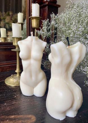 Свеча из натурального соевого воска - «Женское тело»