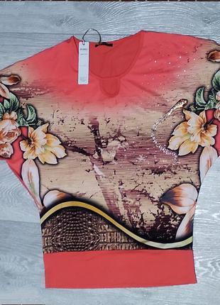 Блуза женская с рукавом летучая мышь