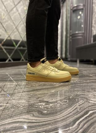 Мужские кроссовки  nike air force low gore-tex beige