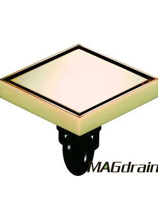 H4 Трап сливной MAGdrain  цирконий золото 120х120 мм H-80