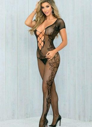 Эротическое белье, комбинезон сетка боди сексуальное белье