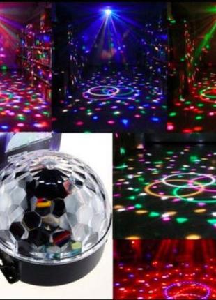 Светомузыка Диско Шар проектор MP3+ пульт диско куля
