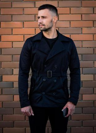 Крутое мужское тренч пальто короткое