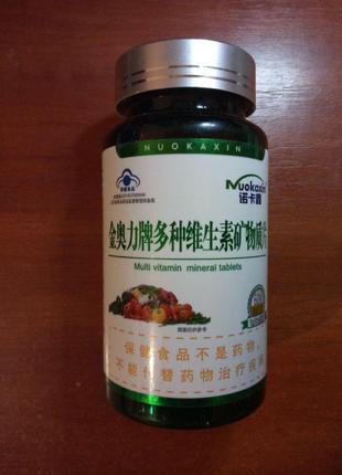 Комплекс мультивитамины + минералы от Nuokaxin, 60 капсул