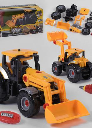 Трактор конструктор 661-429, звук, свет,шуруповерт на батарейках