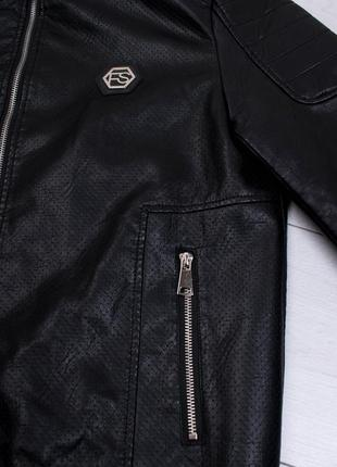 Мужская куртка из экокожи