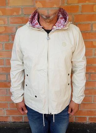 Pretty green cotton zip up hooded jacket куртка оригинал (l) н...