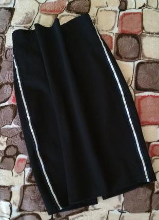 Стильная юбка карандаш с лампасами