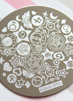 Пластина hehe013 стемпинг трафарет форма плитка диск для маникюра