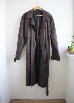 Кожаный винтажный плащ, тренч arizona