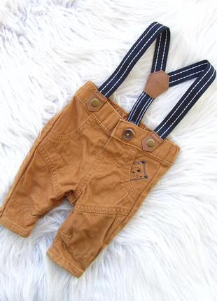 Стильные джинсы штаны брюки с подтяжками nutmeg