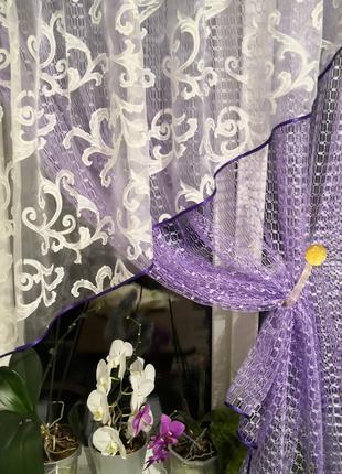 Занавеска штора тюль сетка уголок