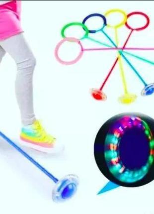 Скакалка на одну ногу со светящимся роликом ( нейроскакалка)