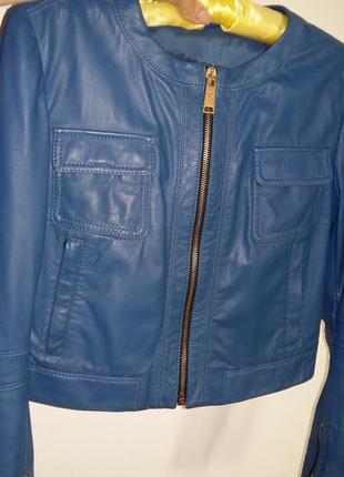 Cnc costume national куртка кожаная укороченная xs