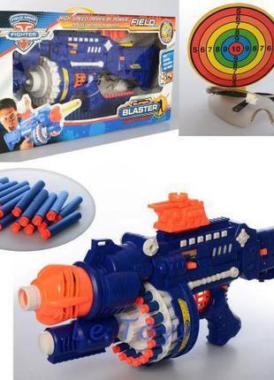 Игрушечный Бластер пулемет SB 245 с поролоновыми снарядами, с миш
