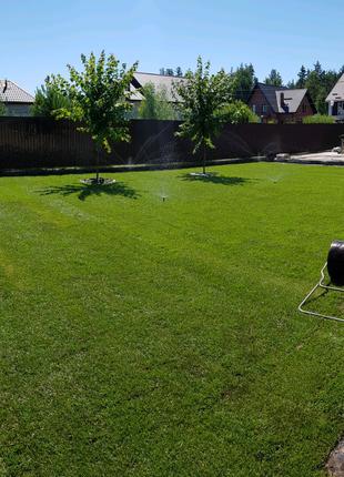 Автоматический полив рулонный газон озеленение благоустройство