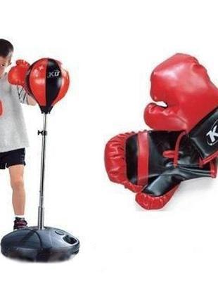 Детский боксерский спортивный набор MS 0333 боксерская груша и пе