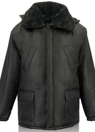 Зимняя рабочая куртка с меховым воротником Волонтер