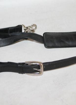 Кожаный плечевой ремень gian ferrente.длинная ручка на сумку