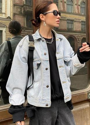 Куртка джинсовая oversized pull&bear