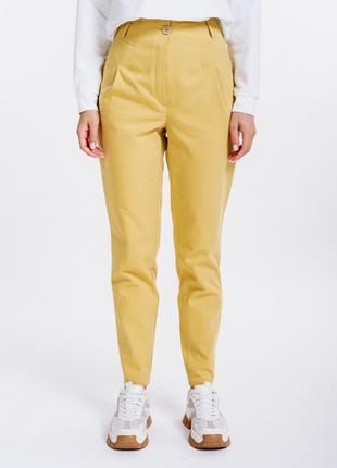 Женские коттоновые брюки с защипами