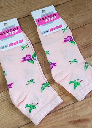 """Носки женские """"цветочек"""", размер 25 / 37-39р."""