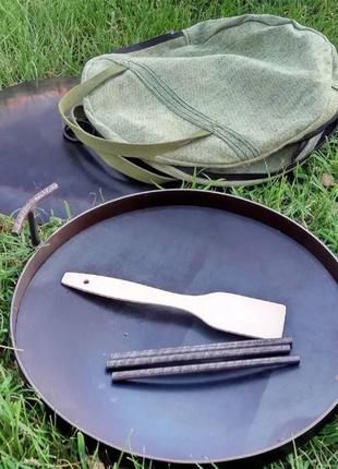 Сковорода из диска бороны для пикника 40см Лопатка в Подарок