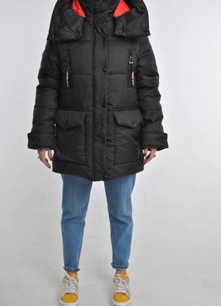 Моднейшая зимняя куртка парка со съемным поясом