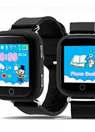 Детские смарт часы Q100 Black c GPS трекером и телефоном