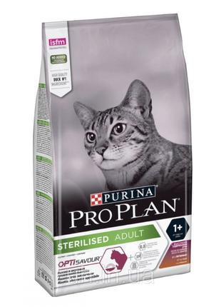 Про План Sterilised сухой корм для стерилизованных кошек с уткой