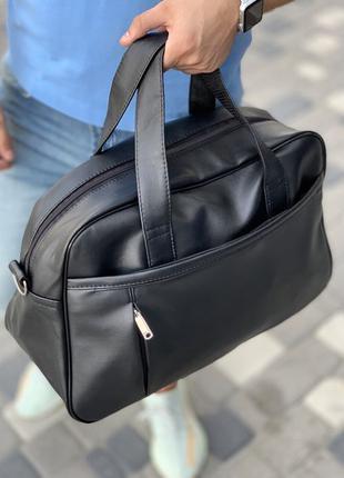 Сумка мужская спортивная, сумка через плечо, черная сумка