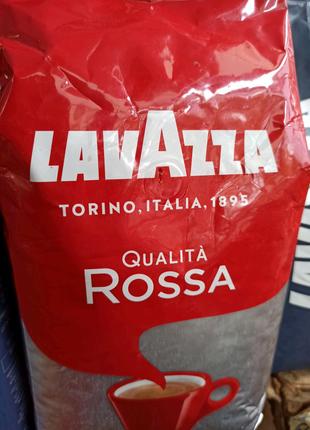 Кофе в зернах Lavazza Qualita Rossa Росса кофе