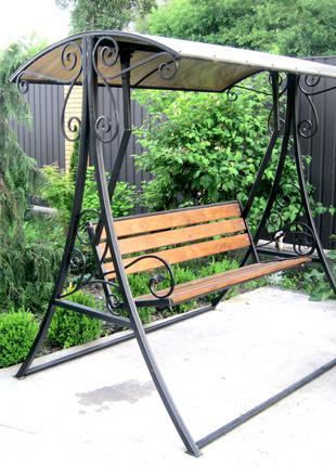 Садовые качели кованые Classic (длина сидения 1,5 метра)