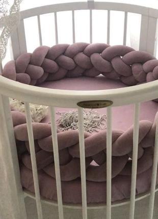 АКЦИЯ! Овальная круглая кроватка новая, матрас, маятник