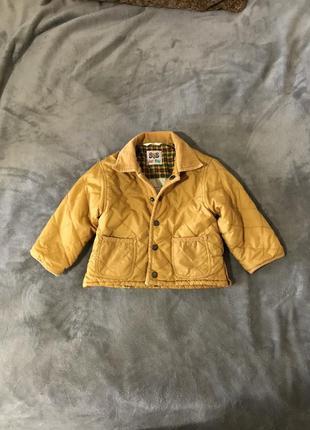 Детская стёганная курточка bob желтая весна-осень куртка модна...