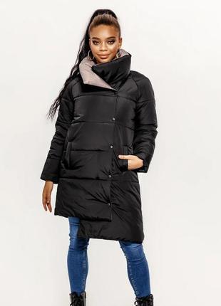 Удлиненная стеганая куртка на синтепоне - 2 цвета