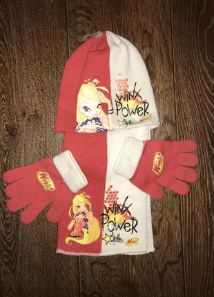 Набор шапка перчатки шарф