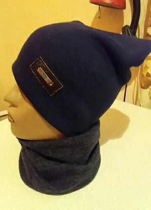 Комплект шапка и хомут осень
