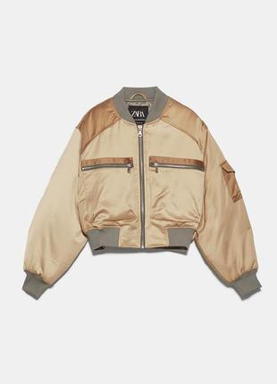 Укороченная куртка/бомбер из сатина zara
