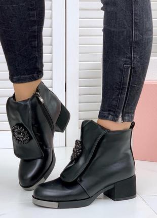 Осень стильные кожаные ботинки на шнурках с эффектным язычком ...