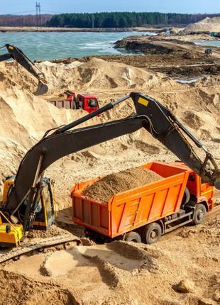Песок строительный (карьерный)